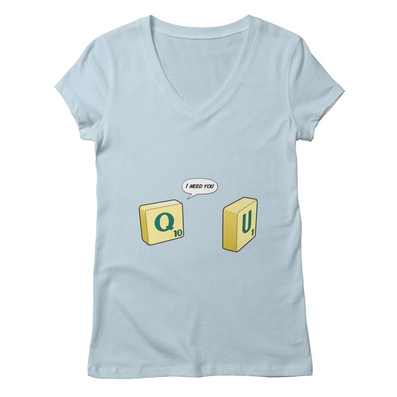 Scrabble love Women's Regular V-Neck by peregraphs's Artist Shop