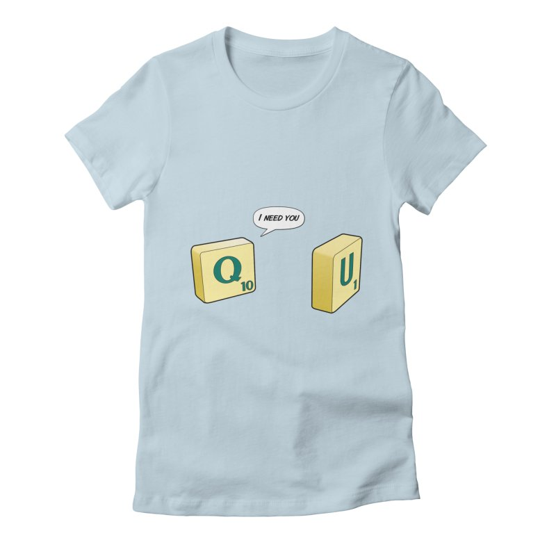 Scrabble love Women's Fitted T-Shirt by peregraphs's Artist Shop