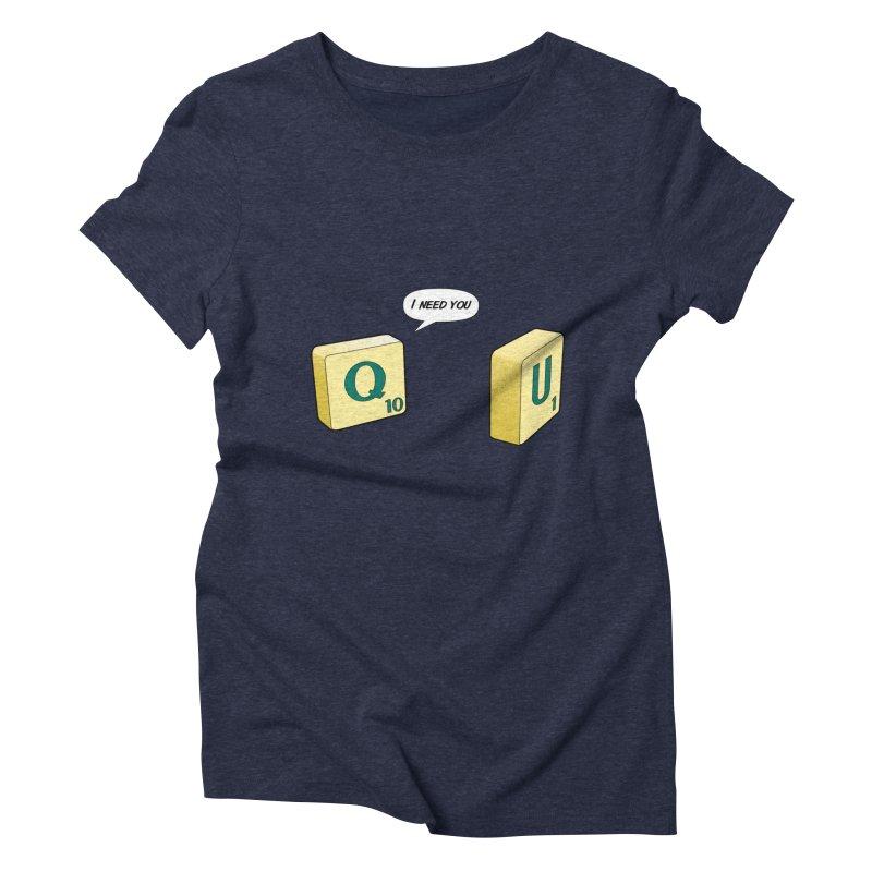 Scrabble love Women's Triblend T-Shirt by peregraphs's Artist Shop
