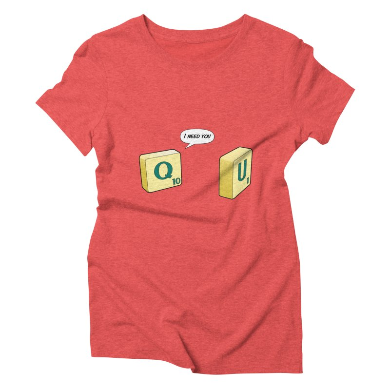 Scrabble love Women's Triblend T-shirt by peregraphs's Artist Shop