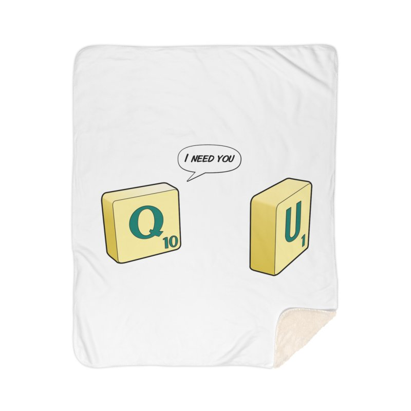 Scrabble love Home Sherpa Blanket Blanket by peregraphs's Artist Shop