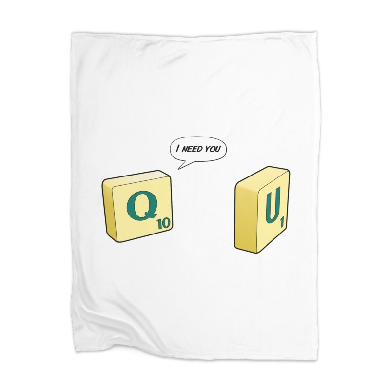 Scrabble love Home Blanket by peregraphs's Artist Shop