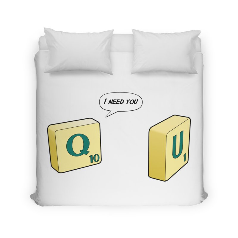 Scrabble love in Duvet by peregraphs's Artist Shop