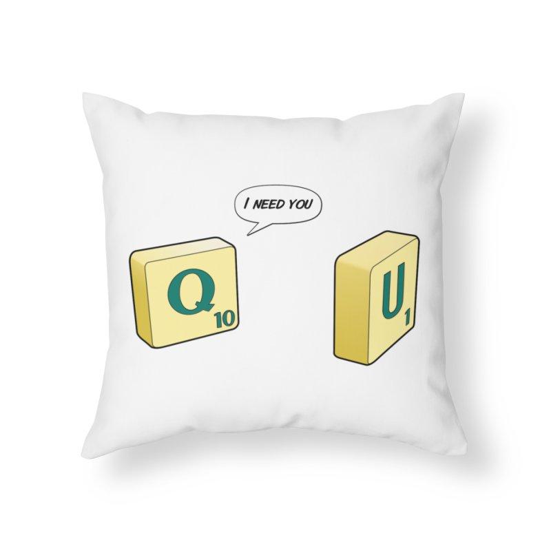Scrabble love Home Throw Pillow by peregraphs's Artist Shop
