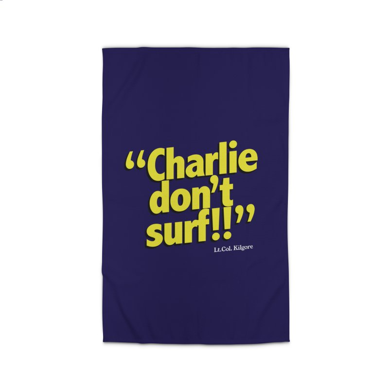 Charlie don't surf!! Home Rug by peregraphs's Artist Shop