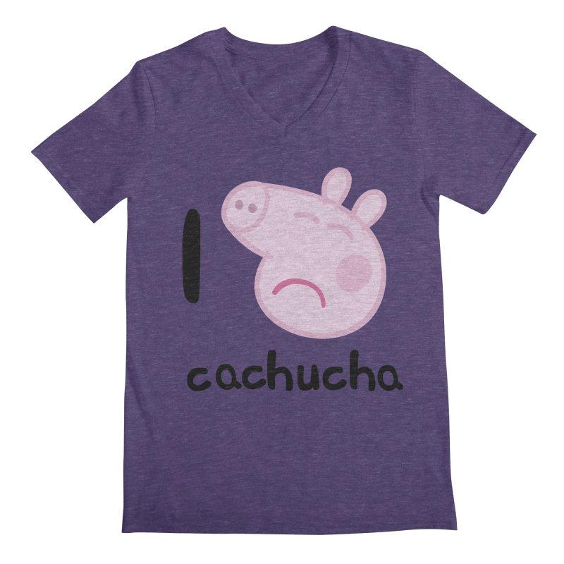 I love cachucha_2 Men's Regular V-Neck by peregraphs's Artist Shop