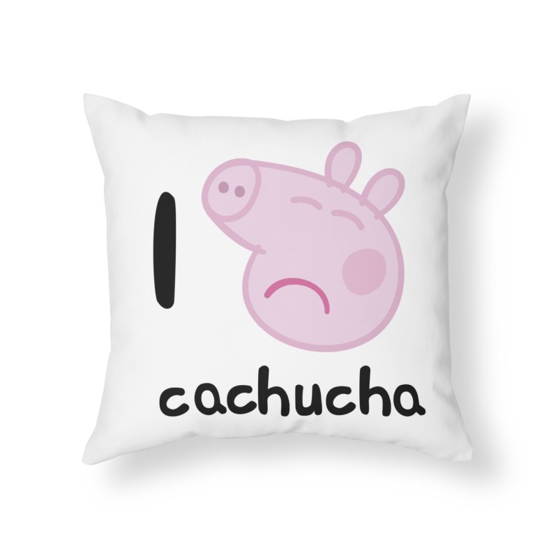 I love cachucha_2 Home Throw Pillow by peregraphs's Artist Shop