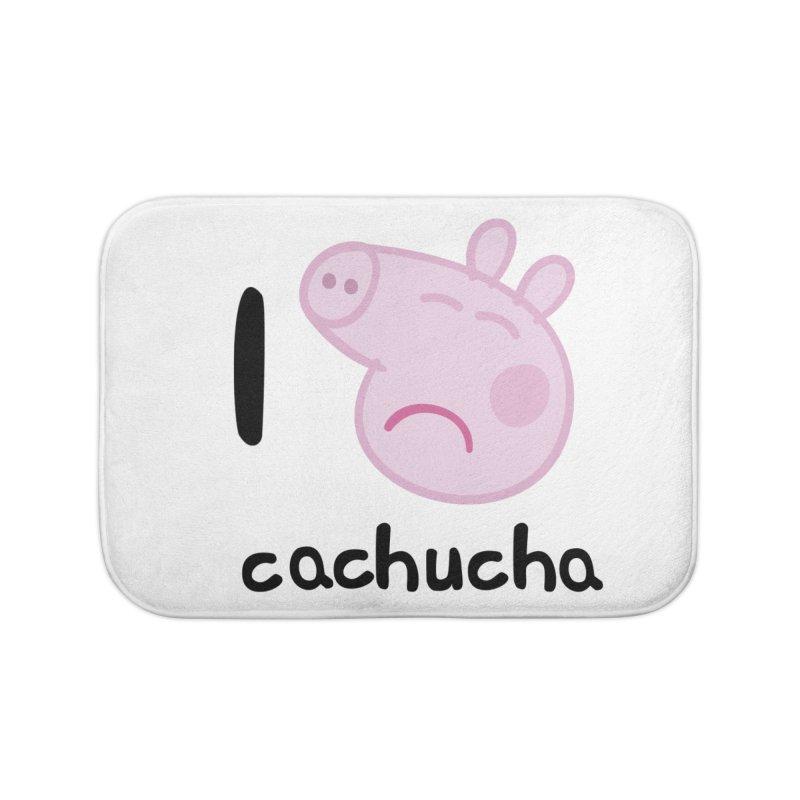 I love cachucha_2 Home Bath Mat by peregraphs's Artist Shop