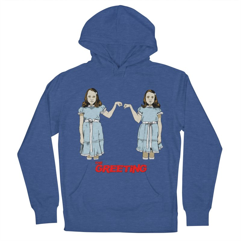 The Greeting Men's French Terry Pullover Hoody by peregraphs's Artist Shop