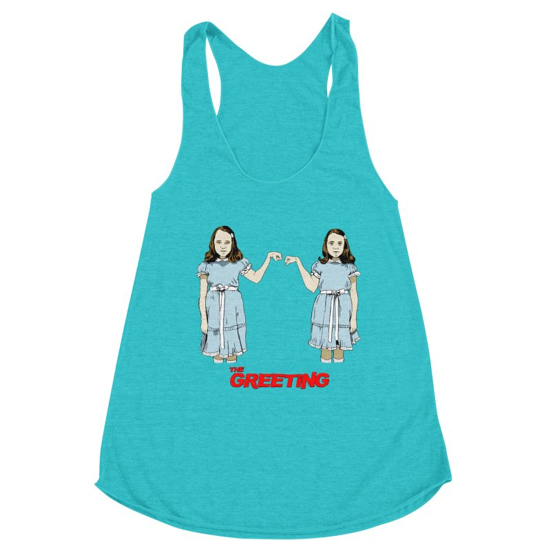 The Greeting Women's Racerback Triblend Tank by peregraphs's Artist Shop