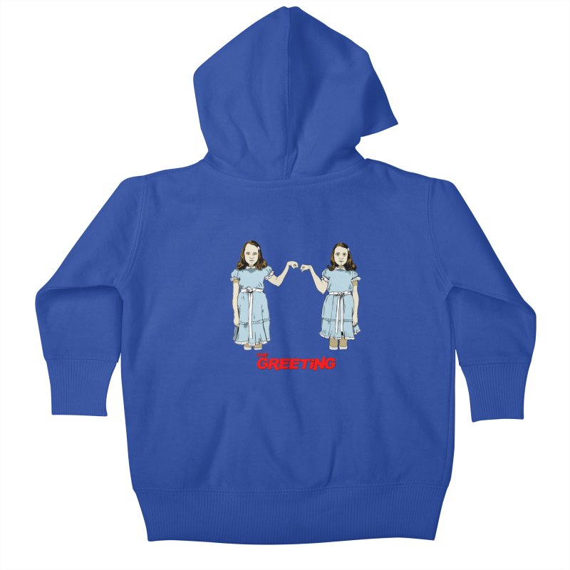The Greeting Kids Baby Zip-Up Hoody by peregraphs's Artist Shop