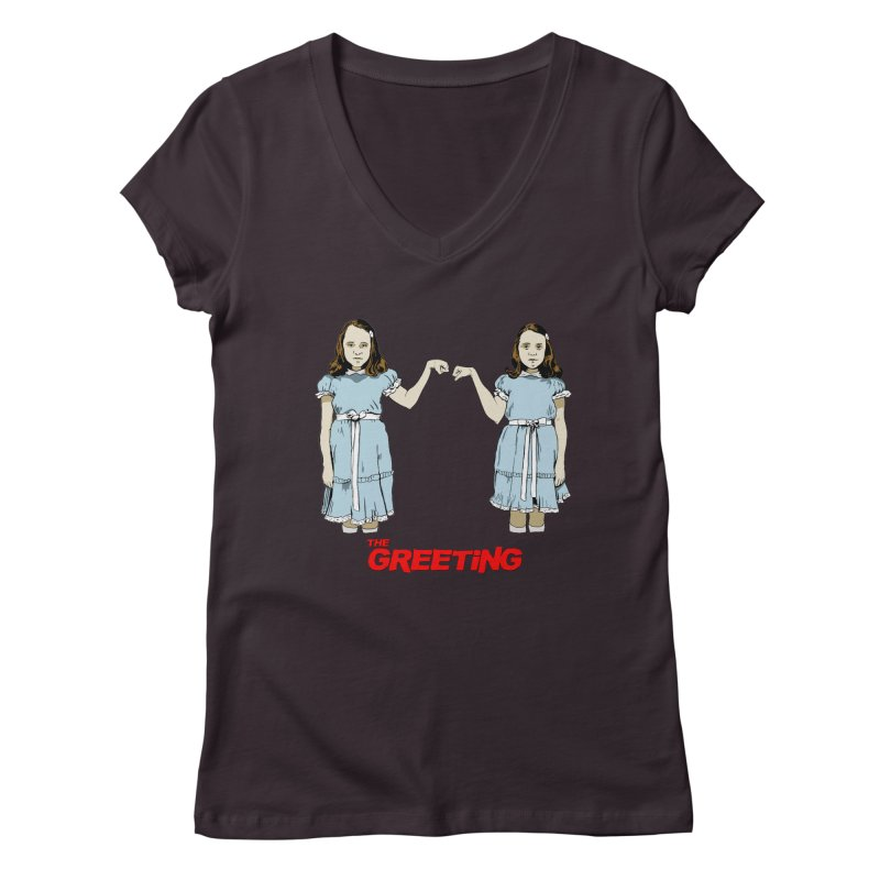 The Greeting Women's Regular V-Neck by peregraphs's Artist Shop