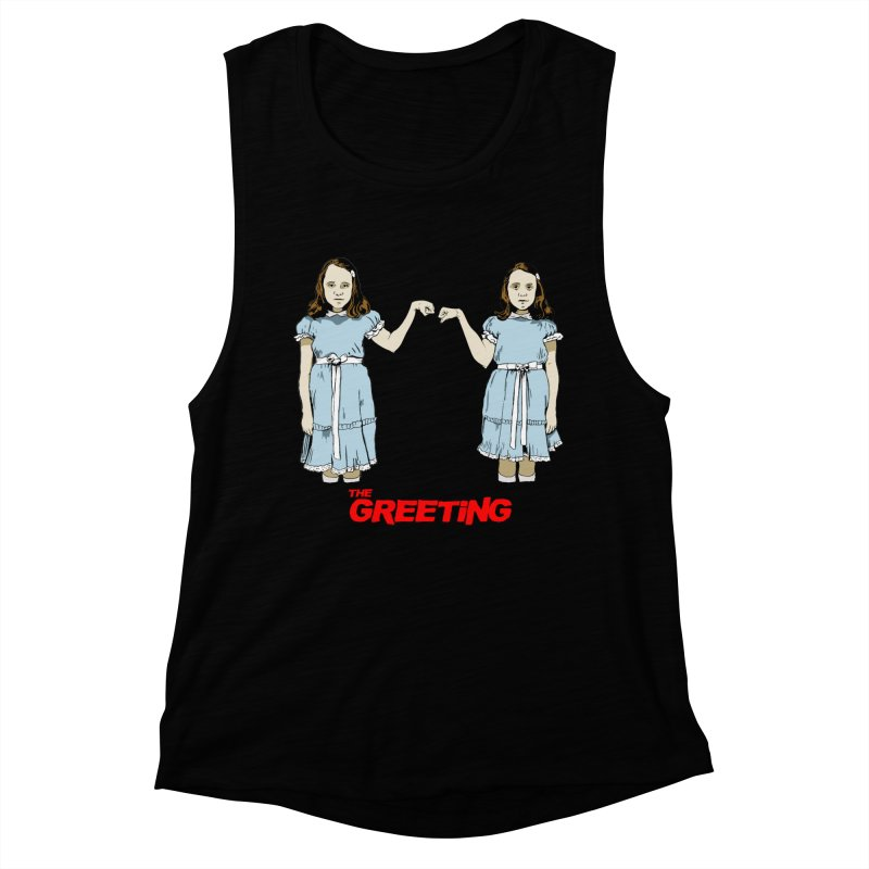 The Greeting Women's Muscle Tank by peregraphs's Artist Shop