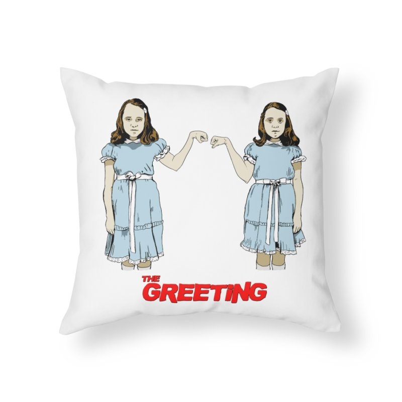 The Greeting Home Throw Pillow by peregraphs's Artist Shop