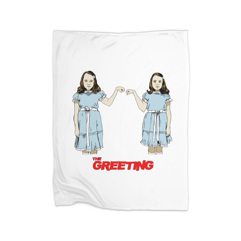 The Greeting Home Fleece Blanket Blanket by peregraphs's Artist Shop