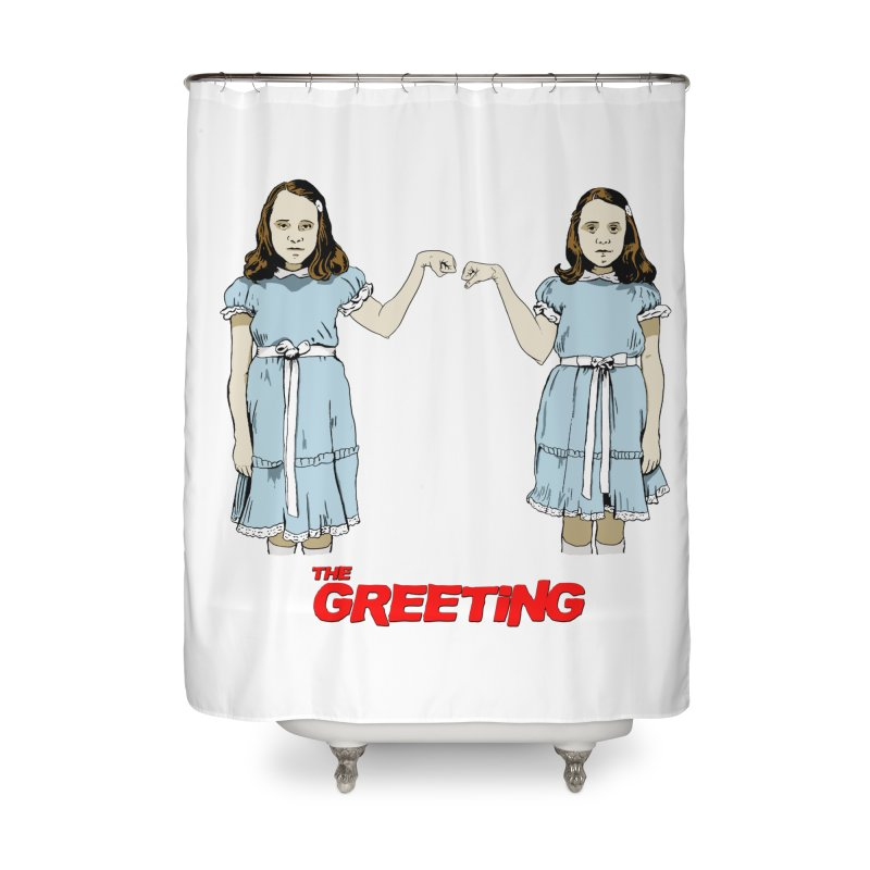 The Greeting Home Shower Curtain by peregraphs's Artist Shop