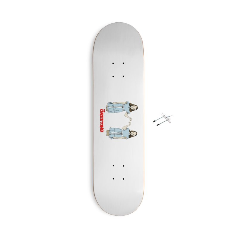 The Greeting Accessories With Hanging Hardware Skateboard by peregraphs's Artist Shop