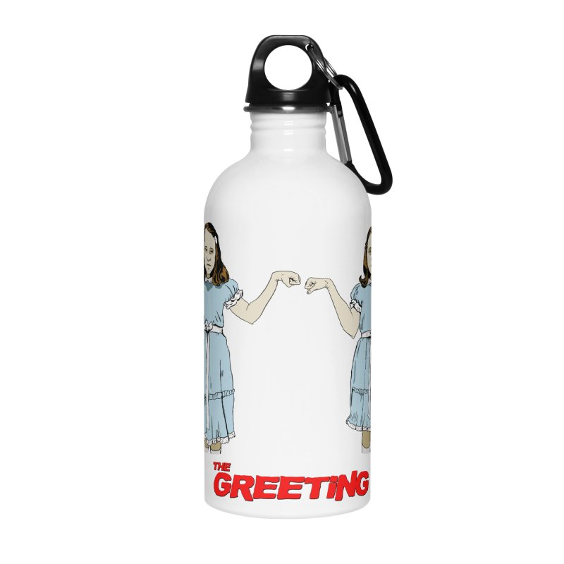 The Greeting Accessories Water Bottle by peregraphs's Artist Shop