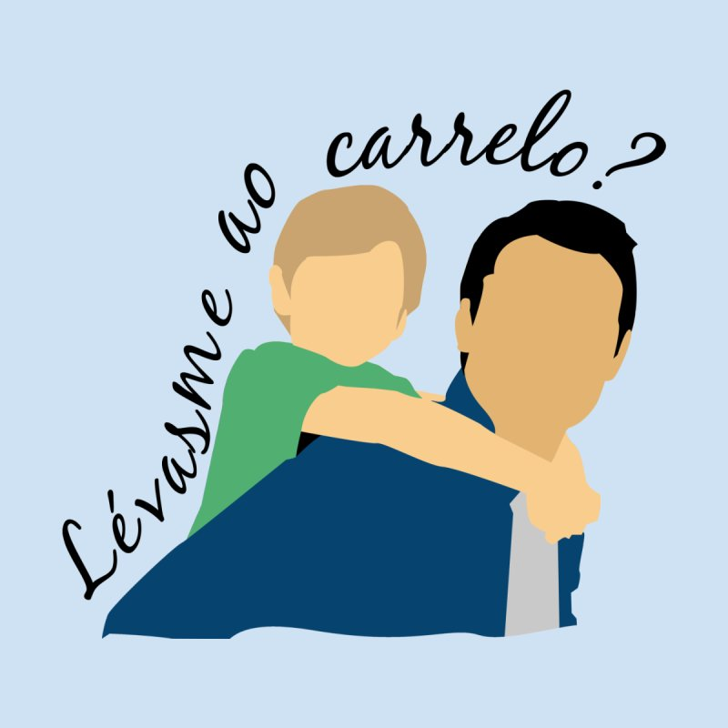 Lévasme ao carrelo? Kids T-Shirt by peregraphs's Artist Shop
