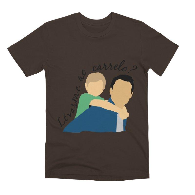 Lévasme ao carrelo? Men's Premium T-Shirt by peregraphs's Artist Shop