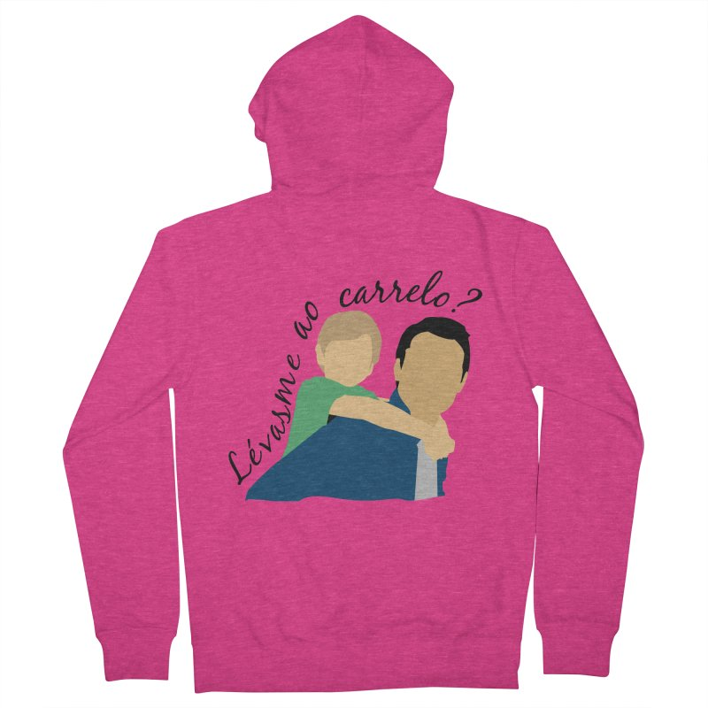 Lévasme ao carrelo? Women's French Terry Zip-Up Hoody by peregraphs's Artist Shop