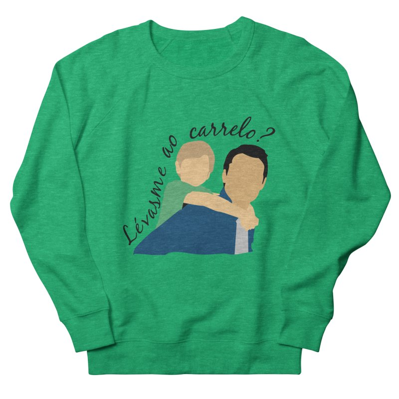 Lévasme ao carrelo? Men's French Terry Sweatshirt by peregraphs's Artist Shop