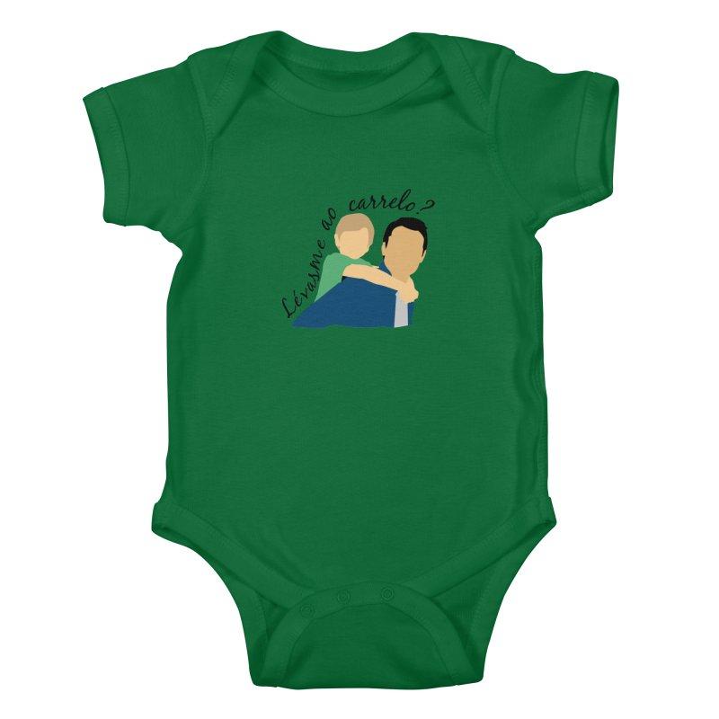 Lévasme ao carrelo? Kids Baby Bodysuit by peregraphs's Artist Shop