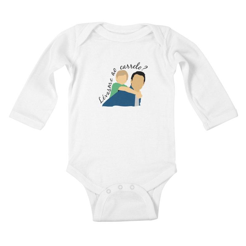 Lévasme ao carrelo? Kids Baby Longsleeve Bodysuit by peregraphs's Artist Shop