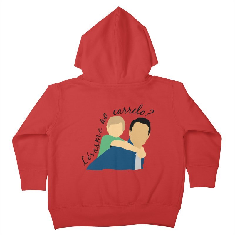 Lévasme ao carrelo? Kids Toddler Zip-Up Hoody by peregraphs's Artist Shop