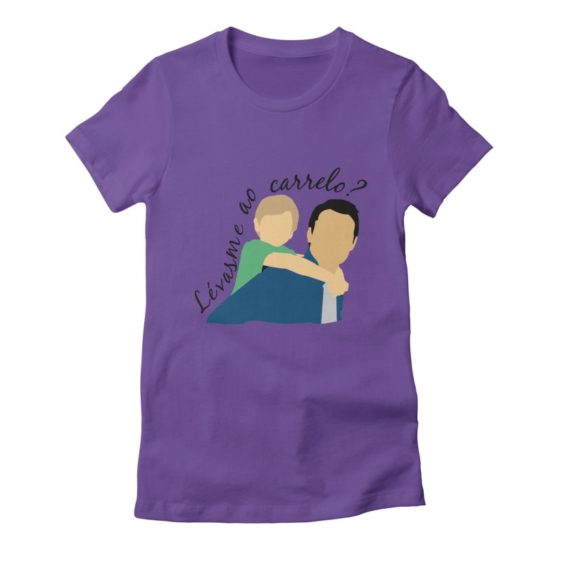 Lévasme ao carrelo? Women's Fitted T-Shirt by peregraphs's Artist Shop