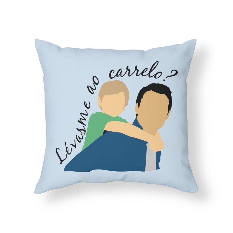 Lévasme ao carrelo? Home Throw Pillow by peregraphs's Artist Shop