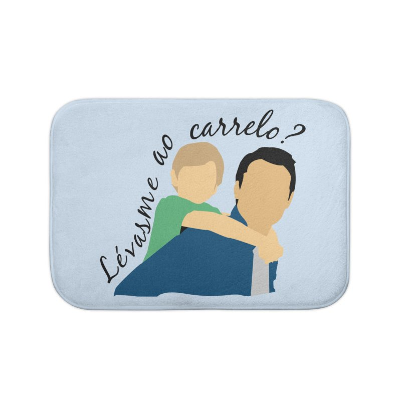Lévasme ao carrelo? Home Bath Mat by peregraphs's Artist Shop