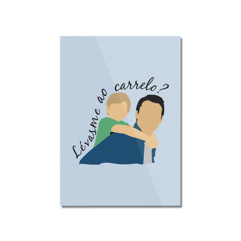 Lévasme ao carrelo? Home Mounted Acrylic Print by peregraphs's Artist Shop