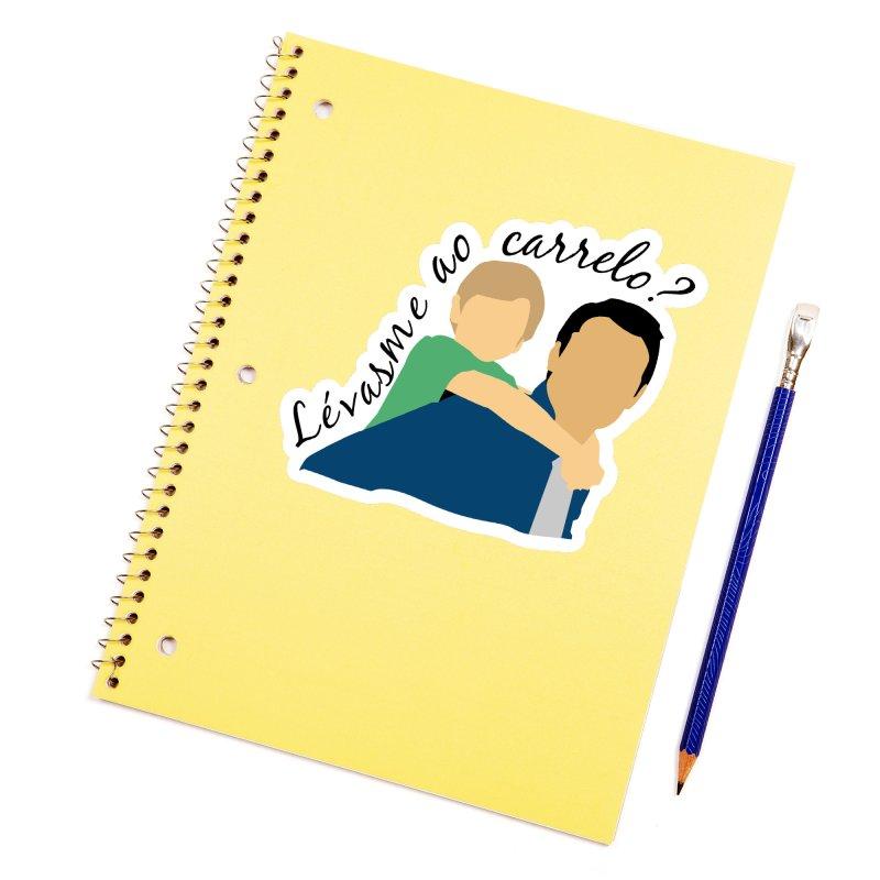 Lévasme ao carrelo? Accessories Sticker by peregraphs's Artist Shop