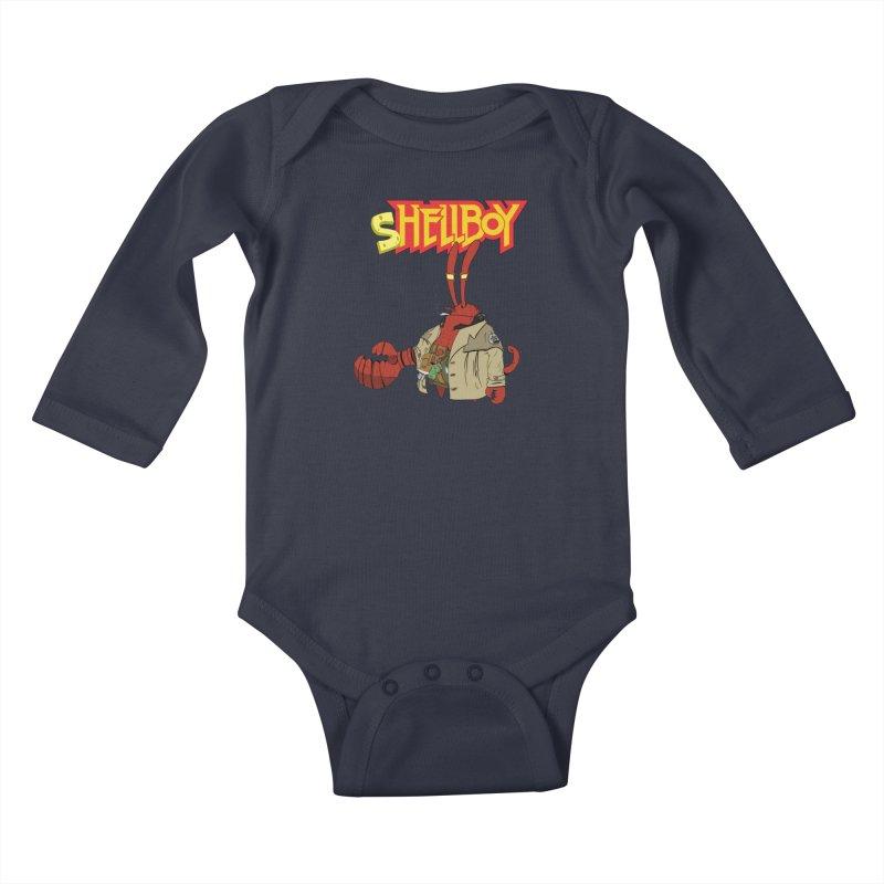 Shellboy Kids Baby Longsleeve Bodysuit by peregraphs's Artist Shop