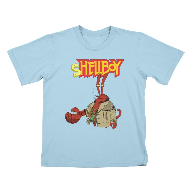Shellboy in Kids T-Shirt Powder Blue by peregraphs's Artist Shop