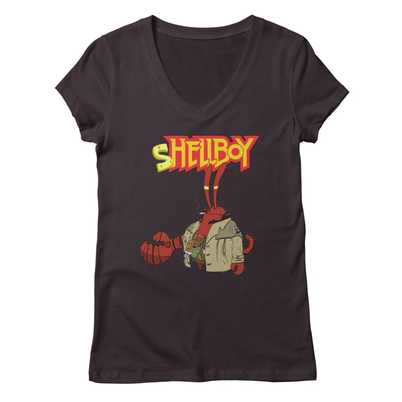 Shellboy Women's Regular V-Neck by peregraphs's Artist Shop