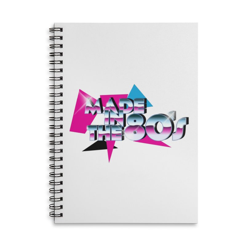 Made in the 80's Accessories Lined Spiral Notebook by peregraphs's Artist Shop