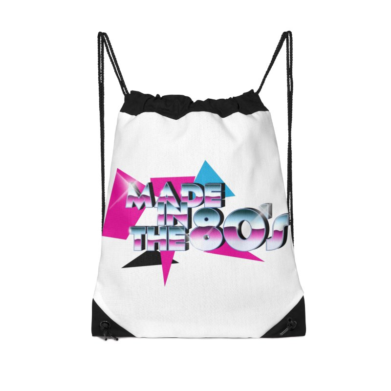 Made in the 80's Accessories Drawstring Bag Bag by peregraphs's Artist Shop