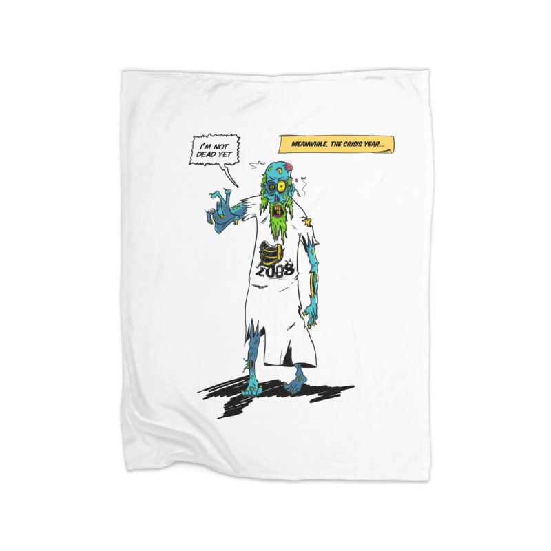 Zombie Year Home Fleece Blanket Blanket by peregraphs's Artist Shop