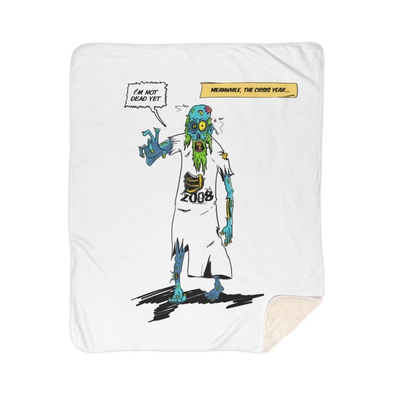 Zombie Year Home Sherpa Blanket Blanket by peregraphs's Artist Shop