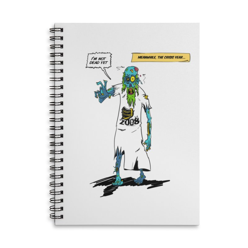 Zombie Year Accessories Lined Spiral Notebook by peregraphs's Artist Shop