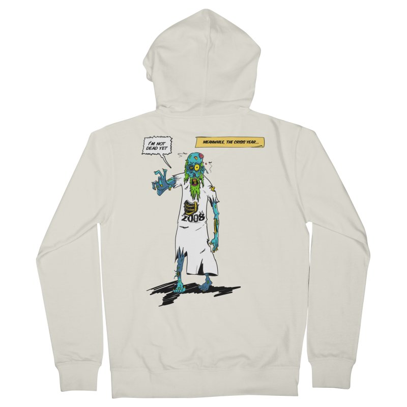 Zombie Year Men's French Terry Zip-Up Hoody by peregraphs's Artist Shop