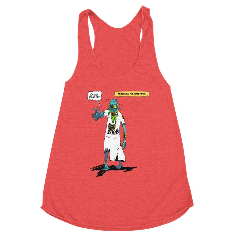 Zombie Year Women's Racerback Triblend Tank by peregraphs's Artist Shop