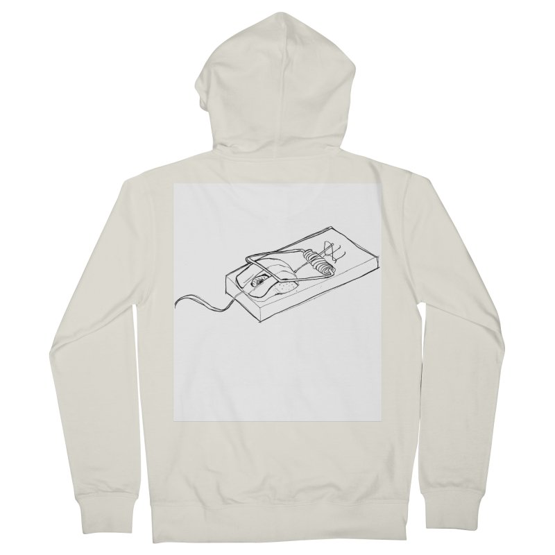 Mouse Men's French Terry Zip-Up Hoody by peregraphs's Artist Shop