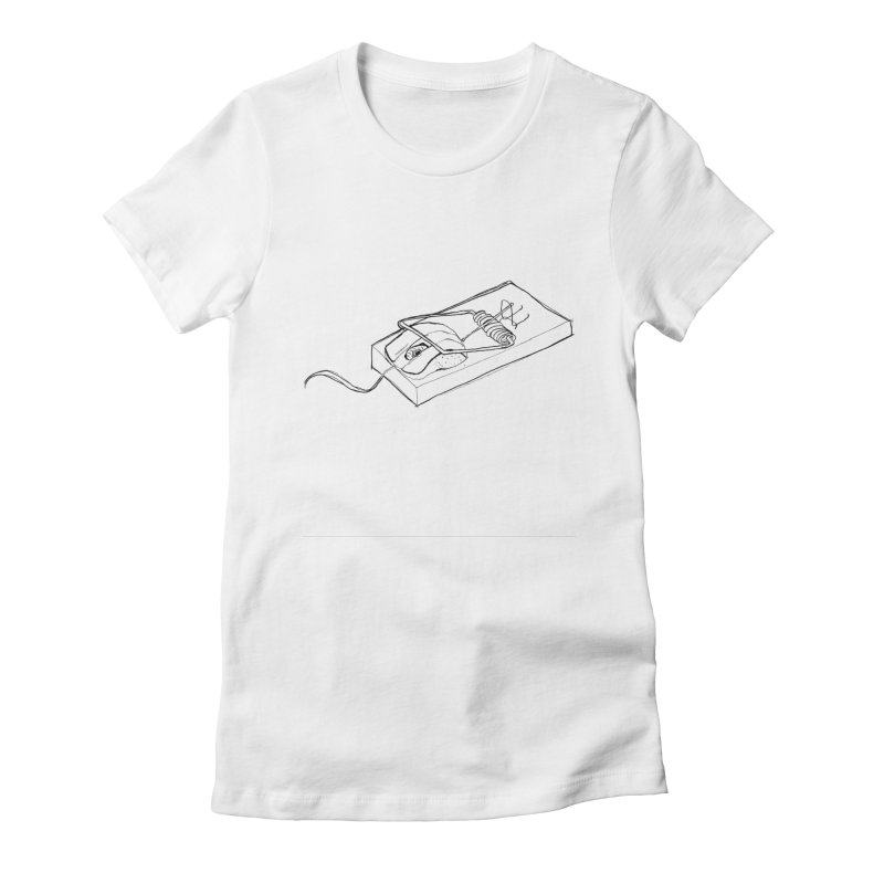 Mouse Women's Fitted T-Shirt by peregraphs's Artist Shop