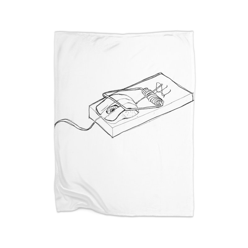 Mouse Home Fleece Blanket Blanket by peregraphs's Artist Shop