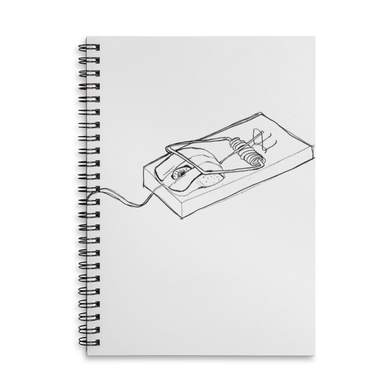 Mouse Accessories Lined Spiral Notebook by peregraphs's Artist Shop