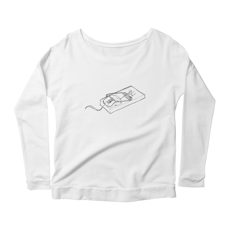 Mouse Women's Longsleeve Scoopneck  by peregraphs's Artist Shop