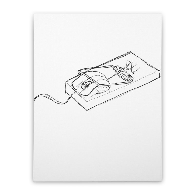 Mouse Home Stretched Canvas by peregraphs's Artist Shop